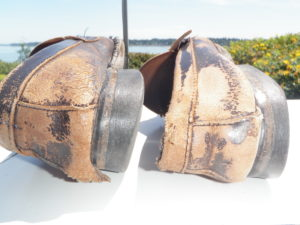 Shoes Robert Rodgers wore when a PhD Student at Michigan State University